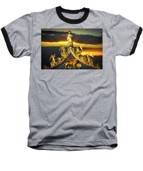 Baseball T-Shirt featuring the photograph Saint Marks Basilica Facade  by Harry Spitz