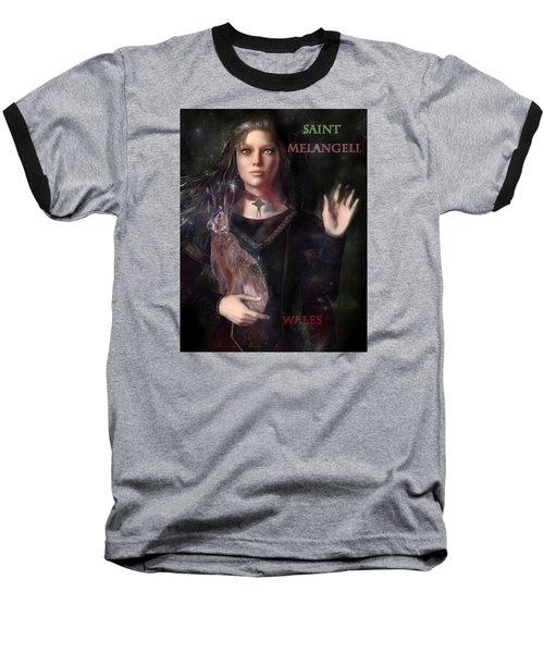 Saint Melangell Of Wales Baseball T-Shirt