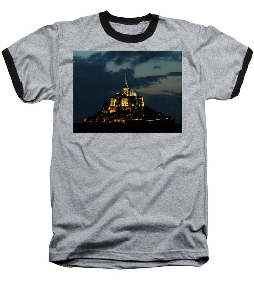 Baseball T-Shirt featuring the photograph Saint Michel Mount After The Sunset, France by Yoel Koskas