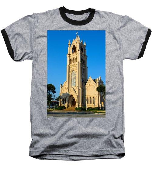 Saint Patrick Catholic Church Of Galveston Baseball T-Shirt by Tikvah's Hope