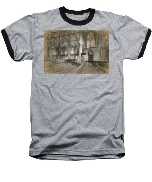 Saint Patrick's Cathedral In New York City Baseball T-Shirt