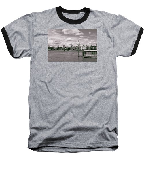Baseball T-Shirt featuring the photograph Saint Pauls Cathedral Along The Thames by Nop Briex