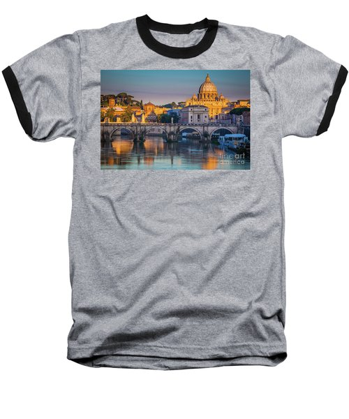 Saint Peters Basilica Baseball T-Shirt