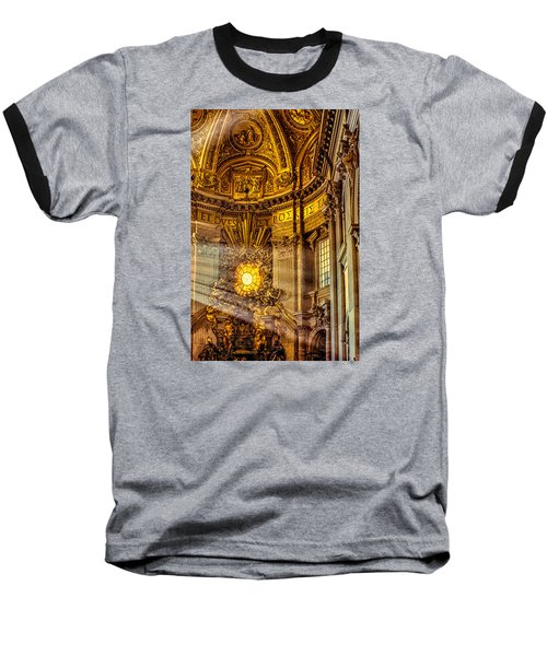 Baseball T-Shirt featuring the photograph Saint Peter's Chair by Trey Foerster