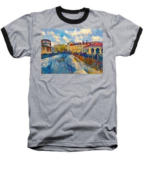 Saint Petersburg Winter Scape Baseball T-Shirt