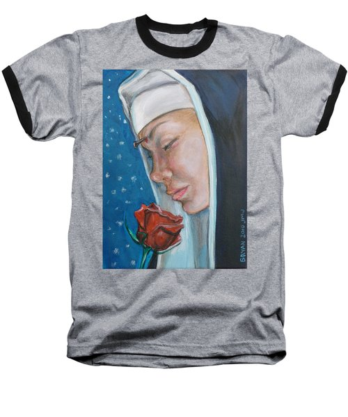 Saint Rita Of Cascia Baseball T-Shirt by Bryan Bustard