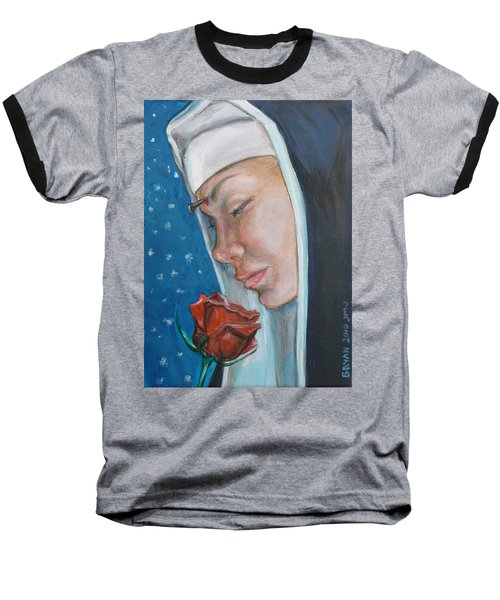 Saint Rita Of Cascia Baseball T-Shirt