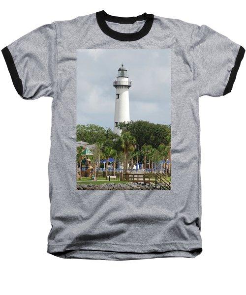 Saint Simons Island Light Baseball T-Shirt