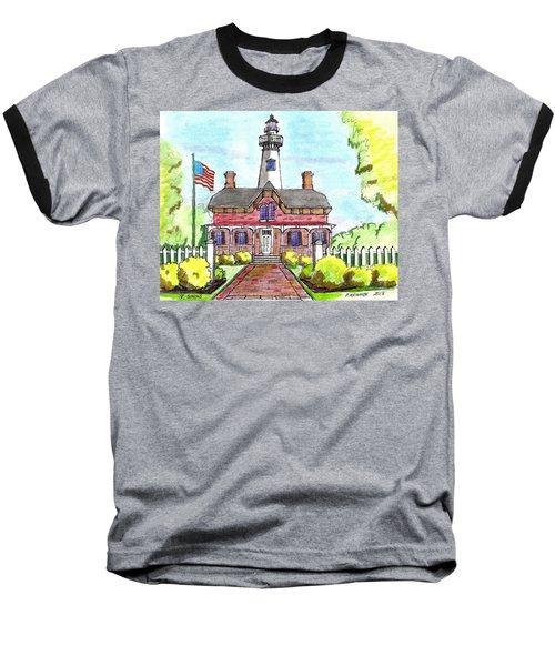 Saint Simons Lighthouse Baseball T-Shirt