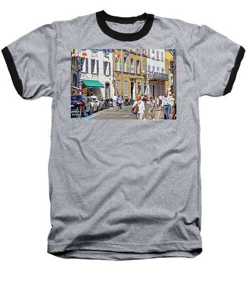 Saint Tropez Moment Baseball T-Shirt by Keith Armstrong