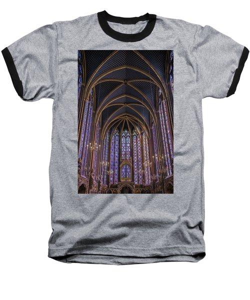 Sainte Chapelle Stained Glass Paris Baseball T-Shirt