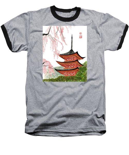 Sakura At Gojunoto Pagoda Baseball T-Shirt