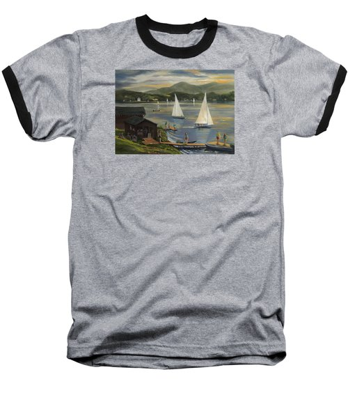 Sailing At Lake Morey Vermont Baseball T-Shirt