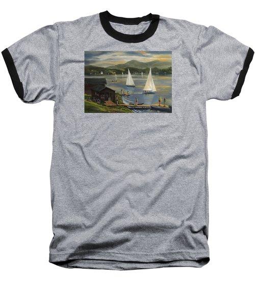 Sailing At Lake Morey Vermont Baseball T-Shirt
