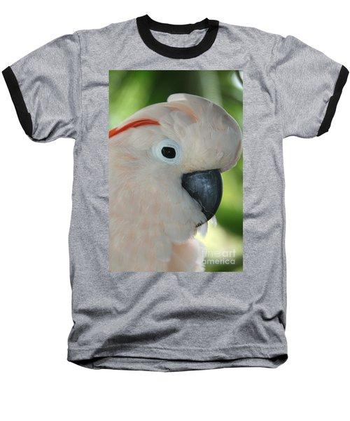Salmon Crested Moluccan Cockatoo Baseball T-Shirt by Sharon Mau