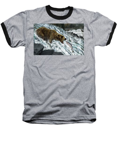 Baseball T-Shirt featuring the photograph Salmon Fishing by Don Olea
