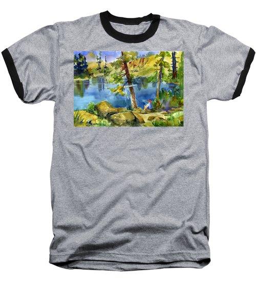 Salmon Lake Fisherman Baseball T-Shirt