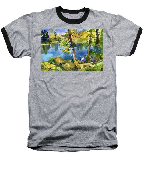 Salmon Lake Fisherman Baseball T-Shirt
