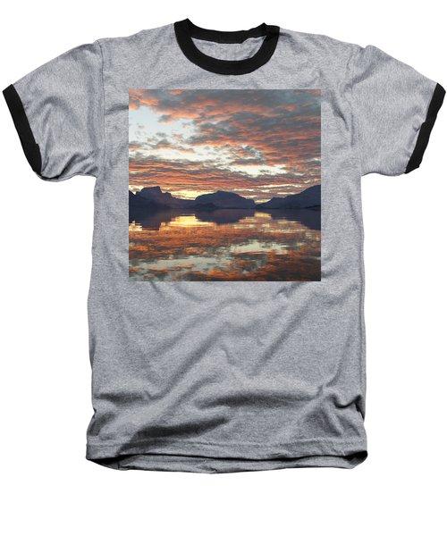 Baseball T-Shirt featuring the digital art Salmon Lake Sunset by Mark Greenberg