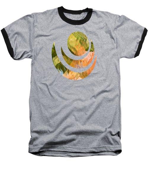 Salmon Mosaic Abstract Baseball T-Shirt