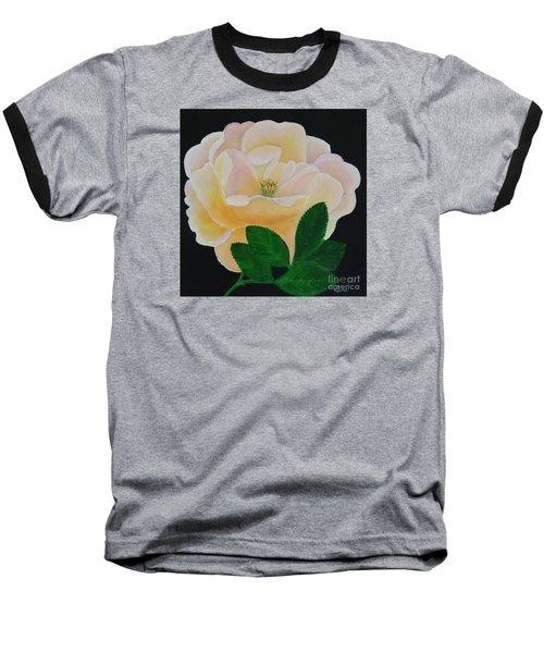 Salmon Pink Rose Baseball T-Shirt