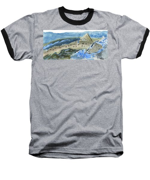 Salmon Surface Baseball T-Shirt