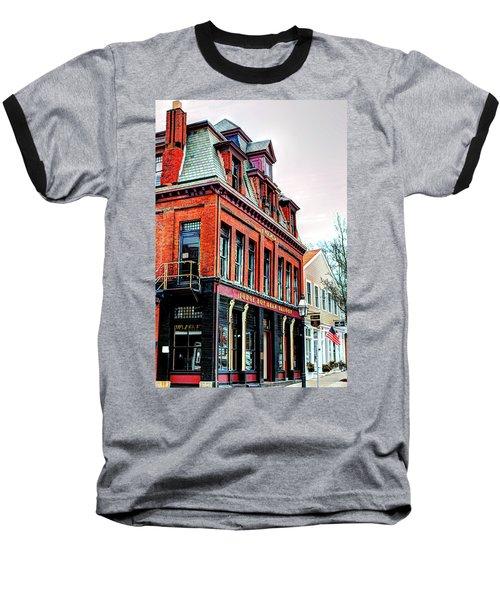 Baseball T-Shirt featuring the photograph Saloon Bristol Ri by Tom Prendergast
