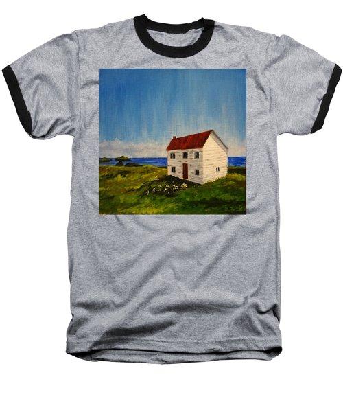 Saltbox House Baseball T-Shirt by Diane Arlitt