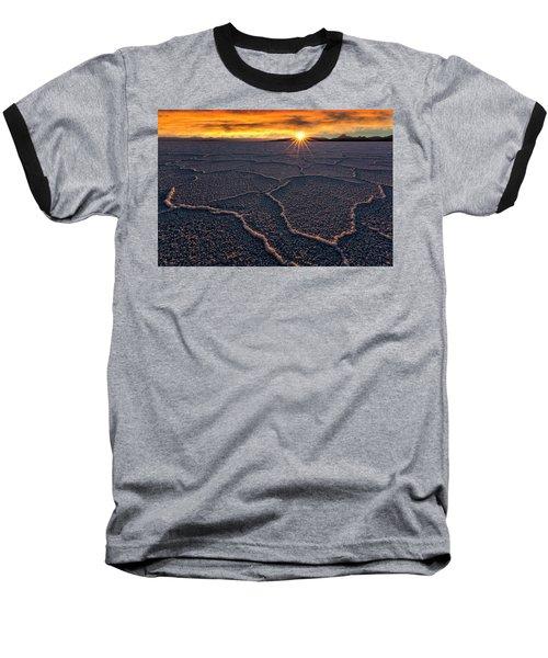 Salt Flats Sunset Baseball T-Shirt