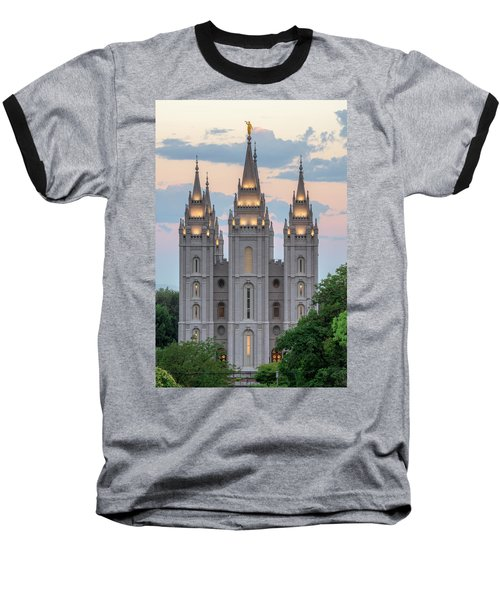 Salt Lake City Temple Morning Baseball T-Shirt