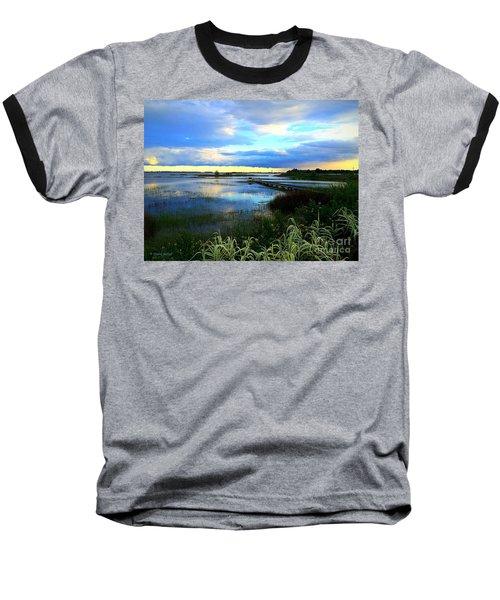 Salt Marsh Baseball T-Shirt by Shelia Kempf