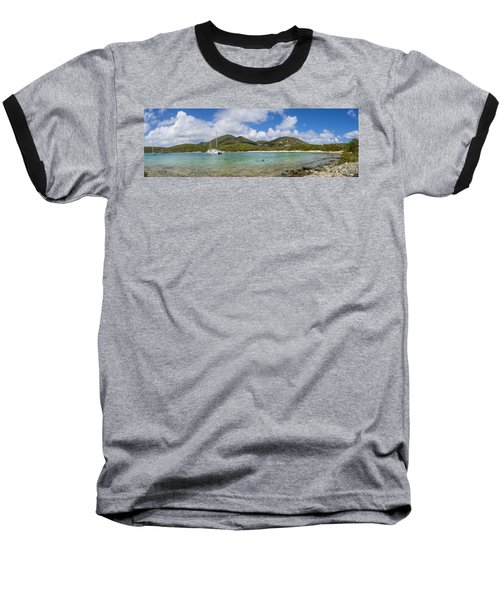 Baseball T-Shirt featuring the photograph Salt Pond Bay Panoramic by Adam Romanowicz