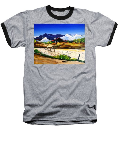 Baseball T-Shirt featuring the painting Salt Works - Port Alma by Therese Alcorn
