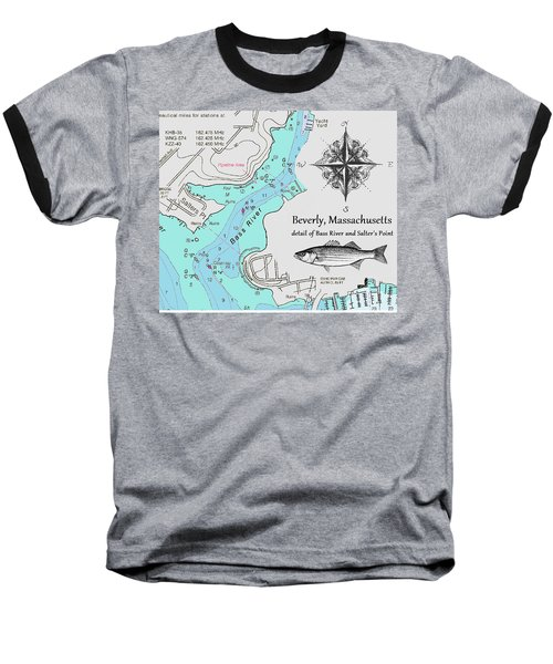 Salter's Point Map Baseball T-Shirt