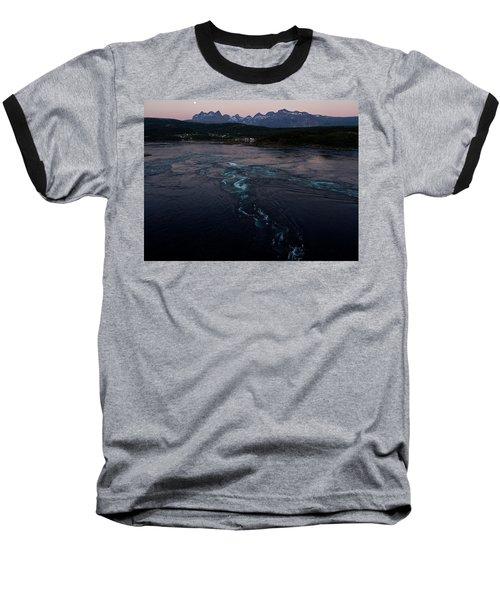 Saltstraumen, Magic Power Stream Baseball T-Shirt by Tamara Sushko