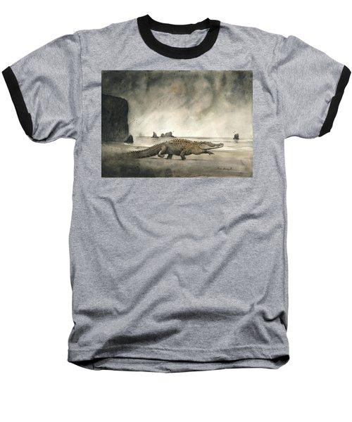 Saltwater Crocodile Baseball T-Shirt