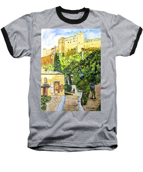 Baseball T-Shirt featuring the painting Saltzburg by Michael Daniels