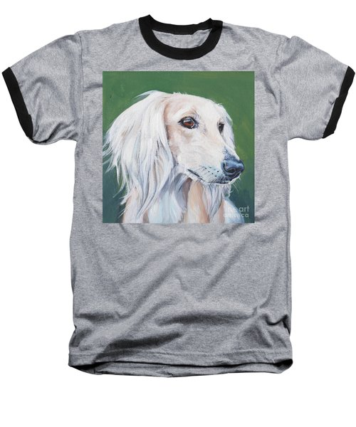 Baseball T-Shirt featuring the painting Saluki Sighthound by Lee Ann Shepard