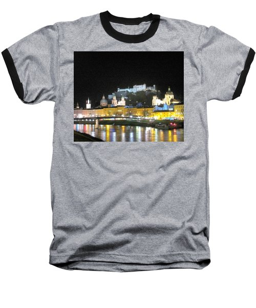 Salzburg At Night Baseball T-Shirt