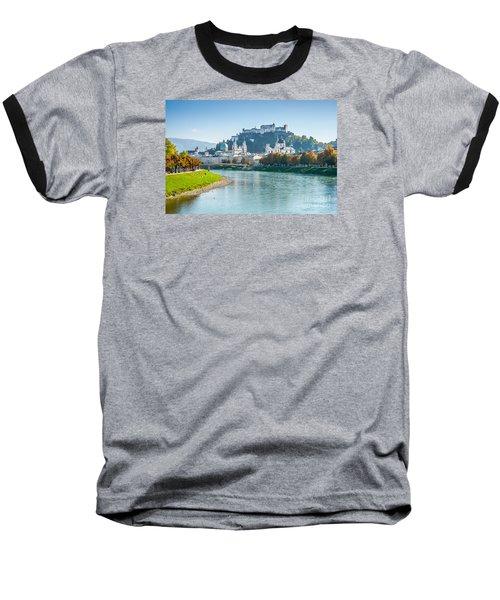 Salzburg Skyline With Fortress In Summer, Austria Baseball T-Shirt