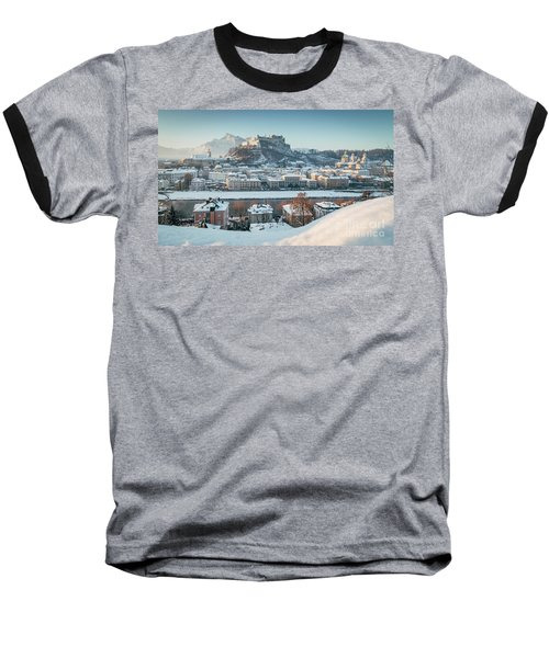 Salzburg Winter Morning Baseball T-Shirt