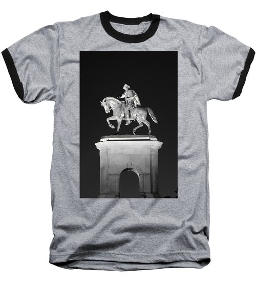 Sam Houston - Black And White Baseball T-Shirt