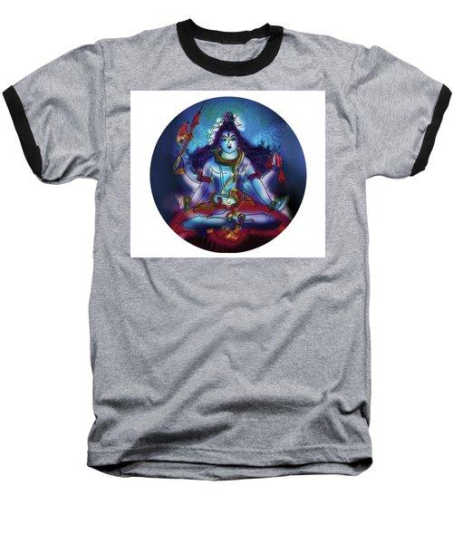 Baseball T-Shirt featuring the painting Samadhi Shiva by Guruji Aruneshvar Paris Art Curator Katrin Suter