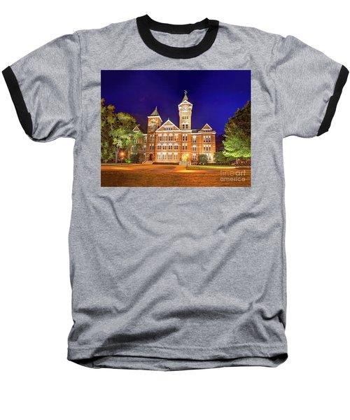 Samford Hall At Night Baseball T-Shirt