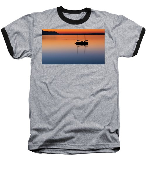 Samish Sea Sunset Baseball T-Shirt