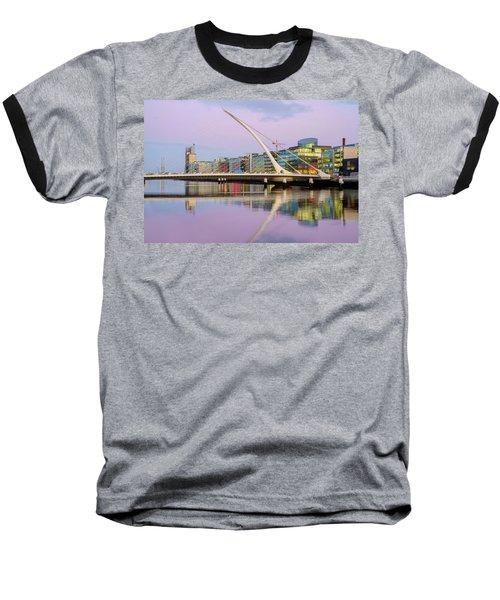 Samuel Beckett Bridge At Dusk Baseball T-Shirt