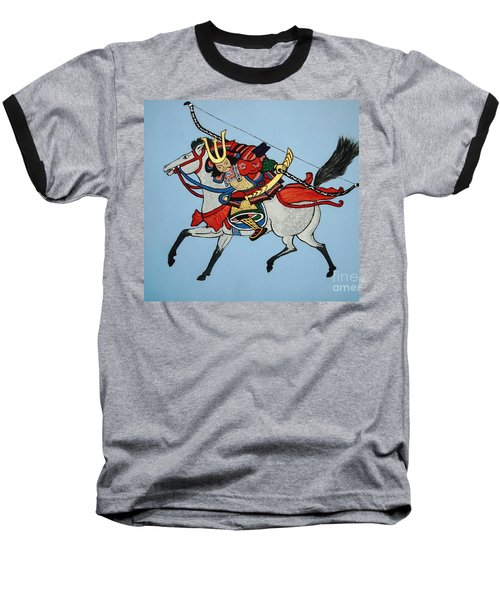 Baseball T-Shirt featuring the painting Samurai Rider by Stephanie Moore
