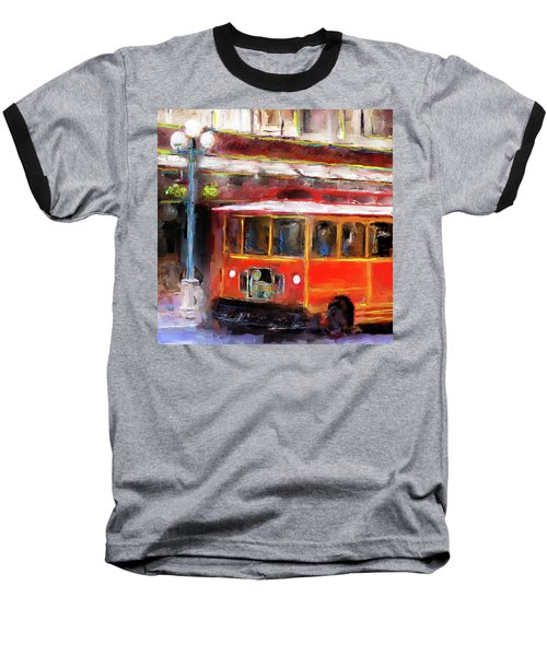 San Antonio 5 Oclock Trolley Baseball T-Shirt