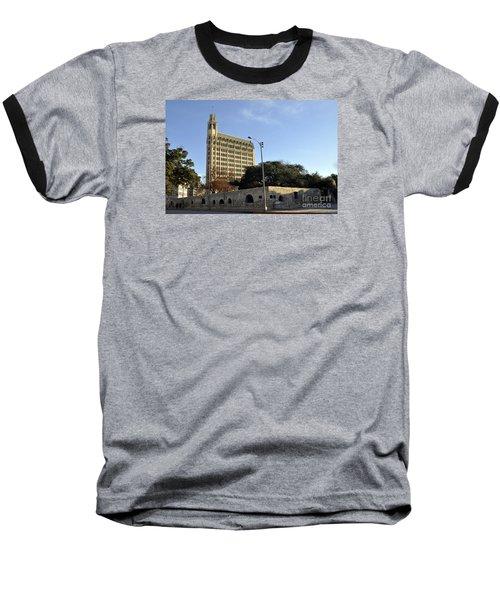 San Antonio Building Baseball T-Shirt