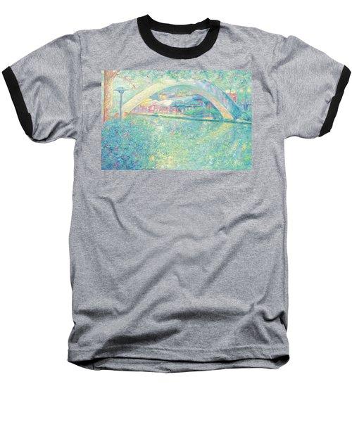 San Antonio Riverwalk Baseball T-Shirt by Felipe Adan Lerma